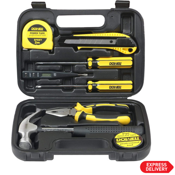 9 Pcs Small Tool Set General Household Ultra Small Hand Tool Kit with Tool Box $23.99
