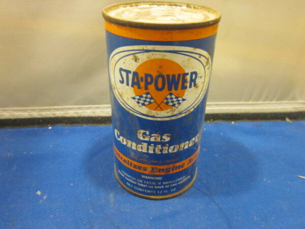 VINTAGE STA POWER GAS CONDITIONER 12 FL. OZ. FULL CAN MAN CAVE $9.19