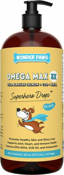 Wonder Paws Fish Oil For Dogs Omega 3 For Dogs From Alaskan Salmon Cod amp; Kril $14.95