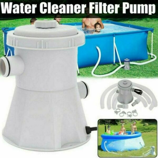 110V Electric Filter Pump Set For Swimming Pool Water Cleaning With Cartridge US $39.89