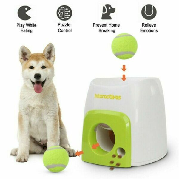 Automatic Dog Tennis Ball Launcher Throwing Machine Pet Play Toy $43.99