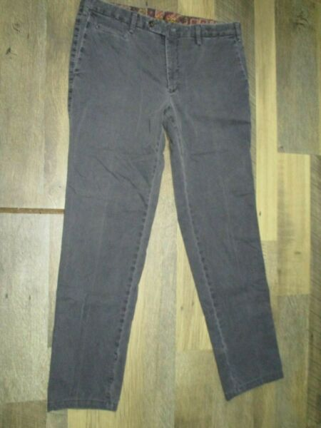 PT01 Rocky Vail Mounatin Sz 52 Men#x27;s Gray Slim Fit Stretch Pants Made In Italy