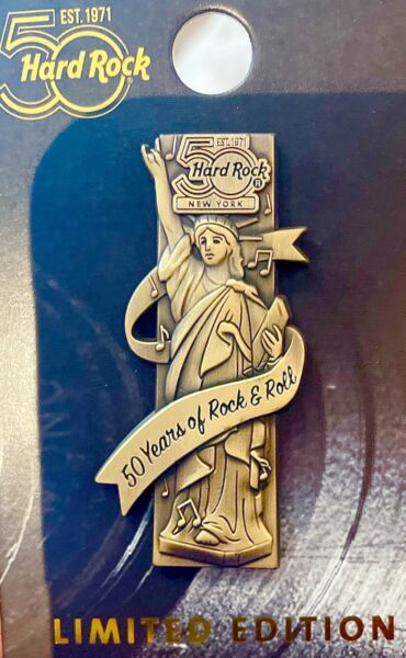 2021 HARD ROCK CAFE NEW YORK 3D 50TH ANNIVERSARY GUITAR PUZZLE SERIES LE PIN $34.48