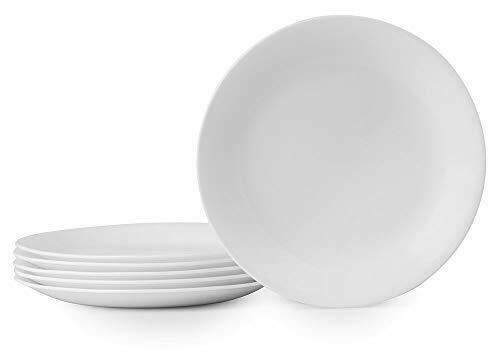 Corelle Winter Frost White Lunch Plates Set 8 1 2 Inch 6 Piece White