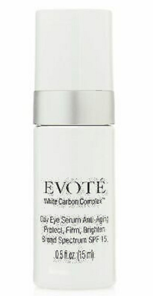 Evoté Beauty White Carbon Anti Aging Day Eye Serum SPF 15 0.5 oz Made in Italy $12.49