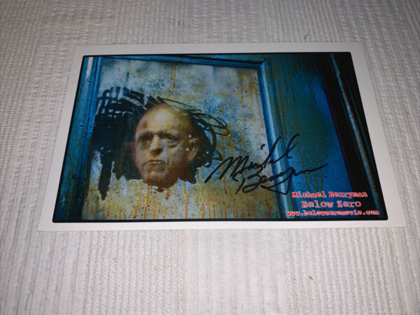 SIGNED By MICHAEL BERRYMAN Signed 8.5 X 5.5 Photo BELOW ZERO Actor $20.00