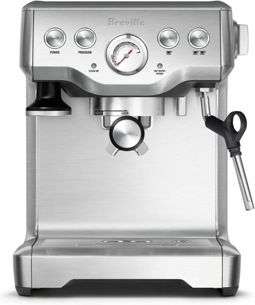 Breville BES840XL Infuser Espresso Machine Brushed Stainless Steel 100
