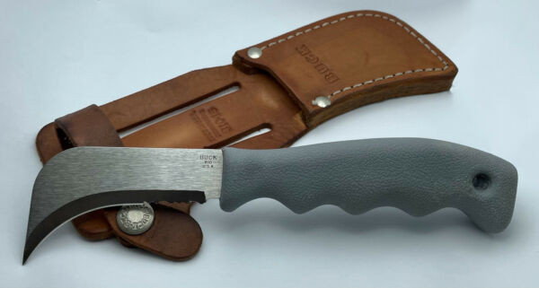 Buck 810 Fixed Blade Knife With Original Leather Sheath USA Made Excellent Cond