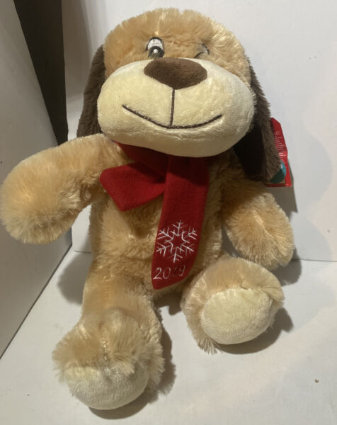 Petsmart Dog quot;Chancequot; 2019 Collectible Dog Toy with Squeaker Plush Red Scarf $14.99