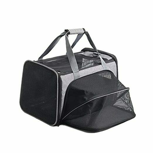 Cat Carrier Expandable Dog Carriers Airline Approved Pet Puppies Carrier $55.78