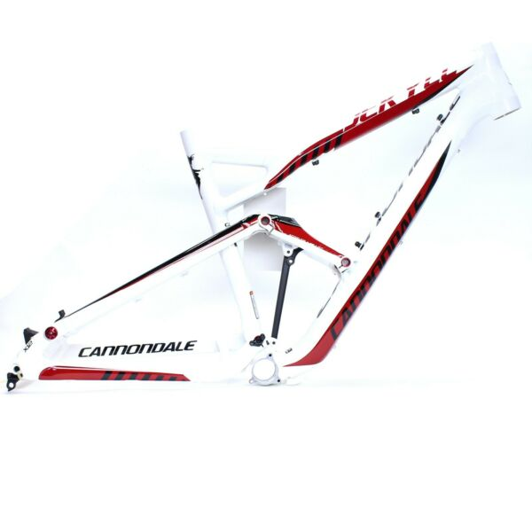 Cannondale 2012 Jekyll Alloy 26quot; Frame Only Medium White w Red Black NOS $699.00