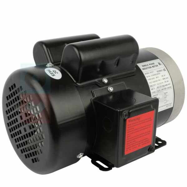 5HP Electric Motor General Single phase 2 Pole 3450 RPM 56C Frame TEFC 60 HZ $216.96
