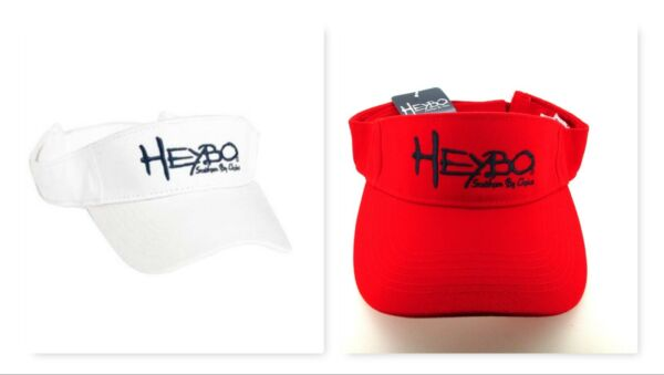 2 HEYBO Sun Visors Wholesale Lot Red amp; White Hats Southern By Choice Brand New $9.99