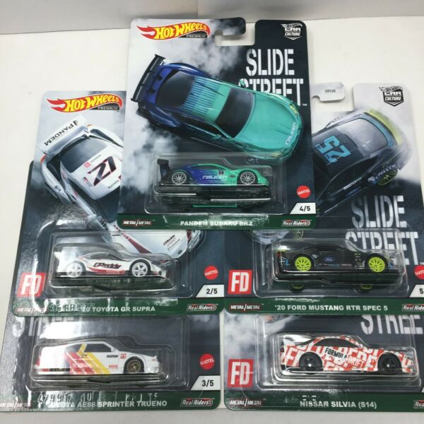 HOT WHEELS 2021 CAR CULTURE SLIDE STREET SET OF 5 IN HAND SHIPPING NOW $29.79