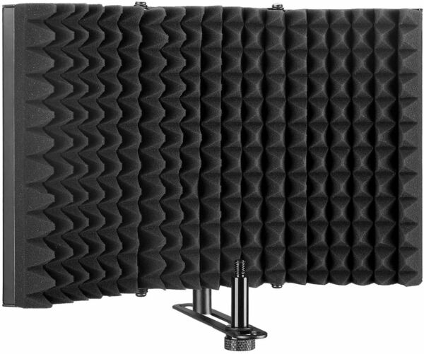 13X8.3quot; Microphone Isolation Shield Foldable Adjustable Durable Studio Recording $19.99