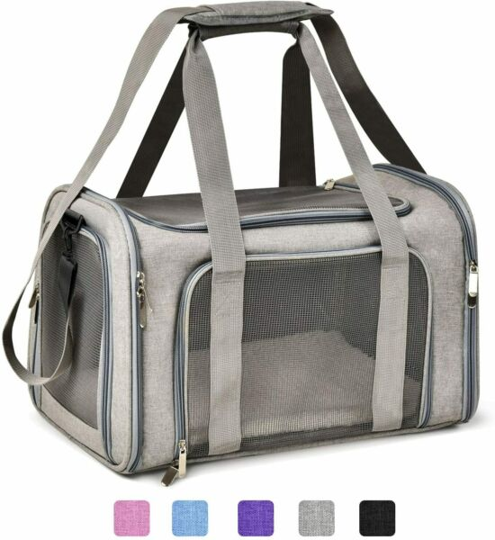 19quot;Large Collapsible Pet Travel Carrier 3Pads Large Airline Approved for Dog Cat $63.99
