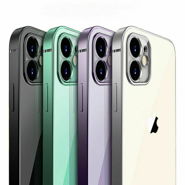 SHOCKPROOF Plating clear Case For iPhone 13 12 11 Pro MAX Mini XR XS X 7 8Cover $6.34