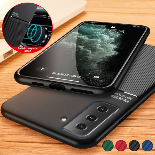 Magnetic Case For Samsung S21 Plus S20 FE 5G Note 20 Ultra S10 Heavy Duty Cover $7.02