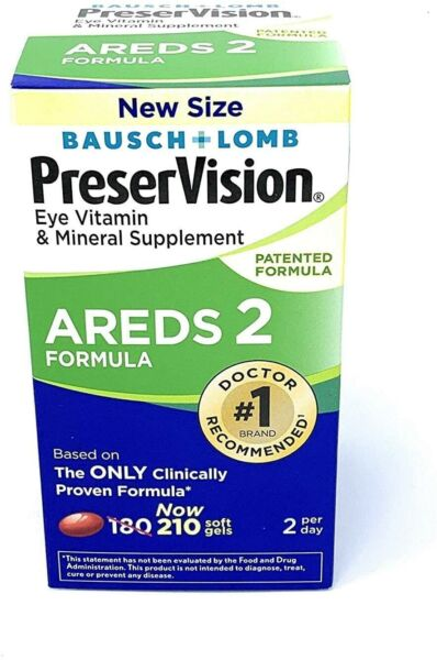 New PreserVision AREDS 2 Eye Vitamin amp; Mineral Supplement Soft Gels