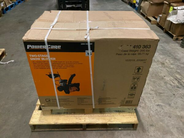 PowerCare 24quot; Two Stage Gas Snow Blower w Electric Start amp; Headlight 7HP