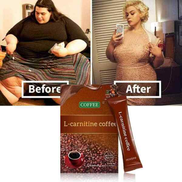 L Carnitine Instant Coffee For Weight Loss Slimming Coffee 7 Packs Box US
