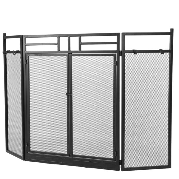 Fireplace Screens Wrought Iron Steel Fireplace Screen For Master Bedroom Child
