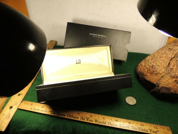 DUNHILL BLACK amp; GOLD PIPE BOX IN LARGE TALL FONT VERY USED CONDITION HARD BODY $18.00