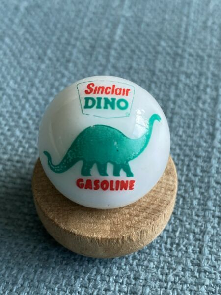 """Sinclair Dino Gas amp; Oil Advertising Marble 7 8"""" In Excellent Condition"""