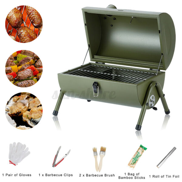 Compact Charcoal Grill Portable Camping Grill BBQ Smoker Grill Camping Patio