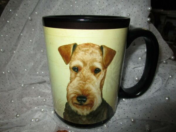 DOG BREED MUGS CUPS AIREDALE $7.95