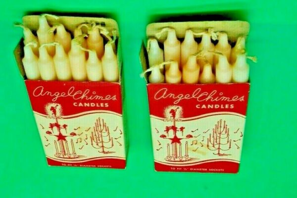 12 Candles 4quot; for Swedish Angel Chimes or Christmas Tree Candle Holders Lot #C $6.99