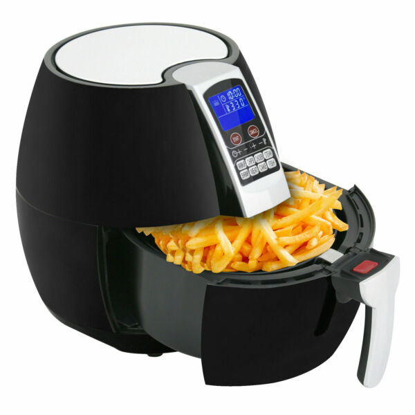 1500W LCD Electric Air Fryer W 8 Cooking Presets Temperature Control Timer $29.88
