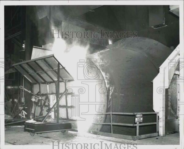 1965 Press Photo Furnace and Heat Shield at Bethlehem Steel Company in New York $19.88