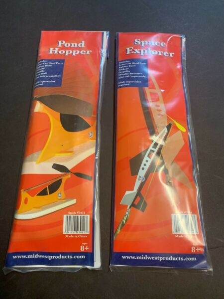 Midwest Rubber Band Pond Jumper Air Boat amp; Space Rocket Flying Balsa Wood Kits $14.99