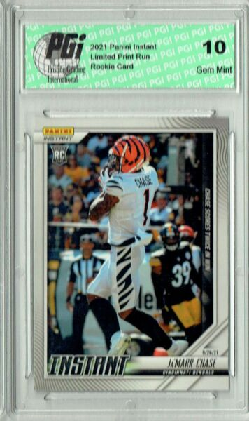 Ja#x27;Marr Chase 2021 Panini Instant #35 Just 270 Ever Made Rookie Card PGI 10 $39.99
