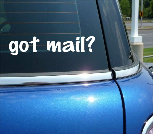 got mail? POSTAGE MAIL CARRIER PACKAGE ENVELOPE DELIVERY FUNNY CAR DECAL STICKER $2.14
