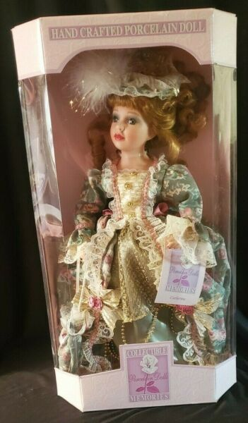 Collectible Memories Hand Crafted Porcelain Dolls Victorian Catherine NEW In Box