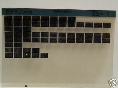 Microfiche Honda Motorcycle Fiche for 1996-1997 XR400R