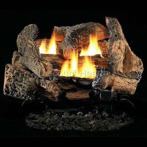Tupelo 2 18quot; or 24quot; Vent Free Fireplace Gas Logs COMPLETE Auto Start NG or LP