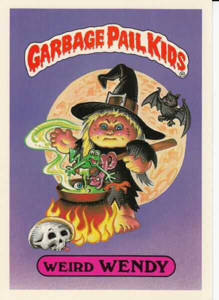 1986 TOPPS GARBAGE PAIL KIDS 1ST SERIES GIANT #16 WEIRD WENDY NM CONDITION GPK