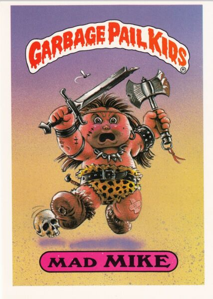 1986 TOPPS GARBAGE PAIL KIDS 1ST SERIES GIANT #33 MAD MIKE NM CONDITION