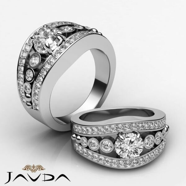 Fine Oval Diamond Sturdy Engagement Ring GIA H SI1 Clarity Platinum 950 1.75 ct