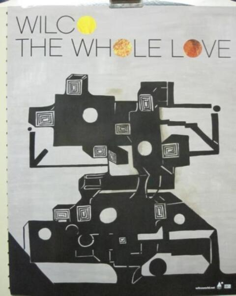 WILCO 2011 THE WHOLE LOVE quot;COVERquot; PROMOTIONAL POSTER New old stock Flawless $6.99