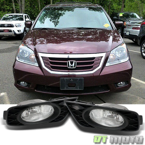 For 2008 2010 Honda Odyssey Bumper Driving Fog Lights Lamp w Switch LeftRight