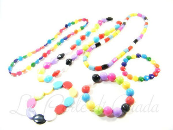 Set Bundle Collana + Bracciale WALLIS Plastica Multicolor Women's Bijoux Summer