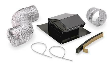BROAN RVK1A Roof Vent Kit Flexible Duct 8 ft. L