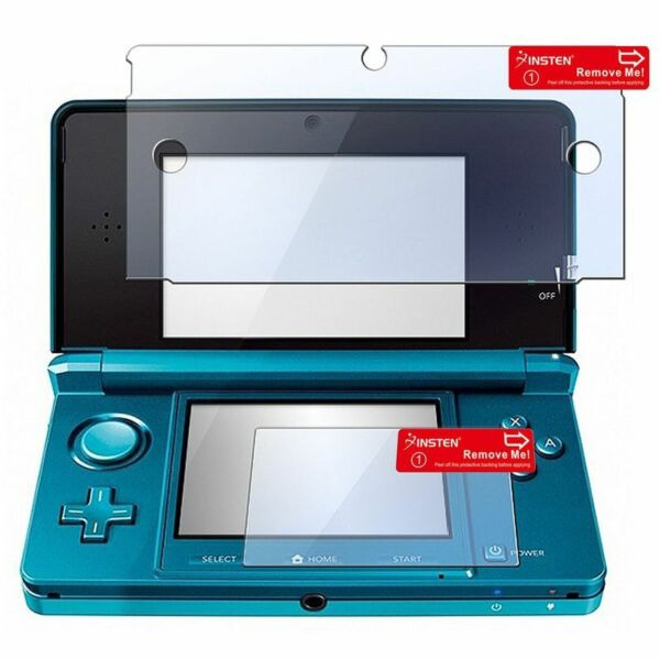 2in1 Clear LCD Screen Protector Film Cover for Nintendo 3DS