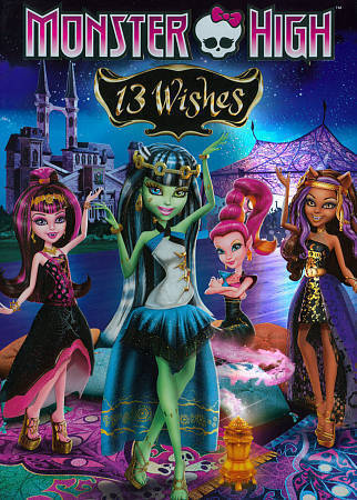 MONSTER HIGH 13 WISHES (DVD, 2013) NEW