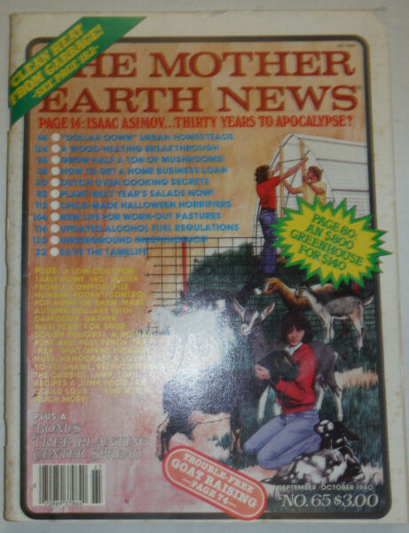 The Mother Earth News Magazine Wood Heating amp; Dutch Ovens October 1980 020915R2 $16.99