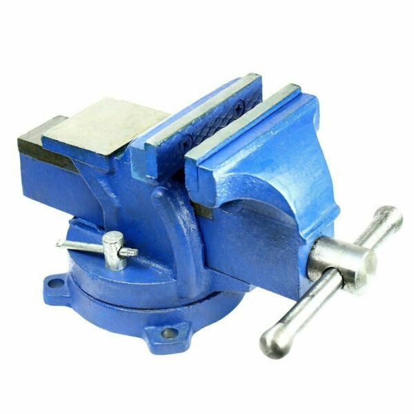 4quot; Heavy Duty Steel Bench Vise with Anvil Swivel Locking Base Table Top Clamp